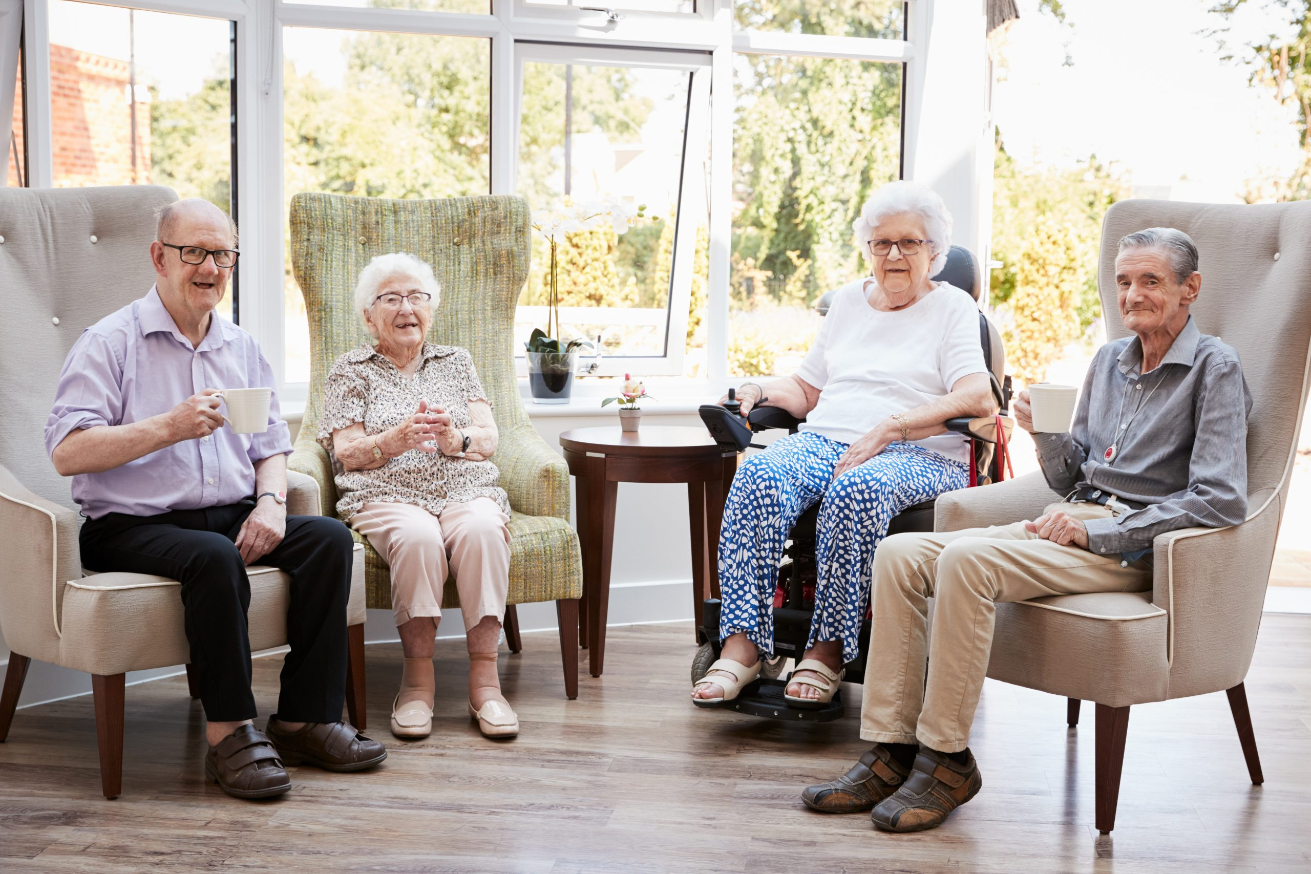 Residents in an old people's home - representing nursing and dementia