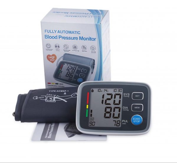 Fully automatic arm blood pressure monitor