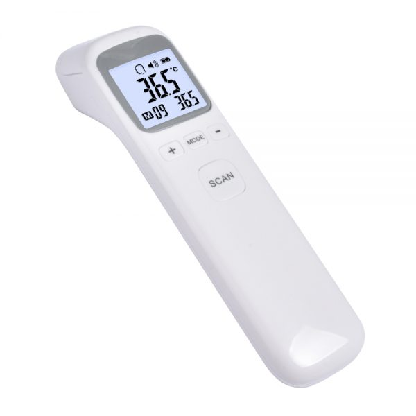 left hand view of clinical infrared digital thermometer