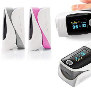 Picture of colour options for finger tip oximeter