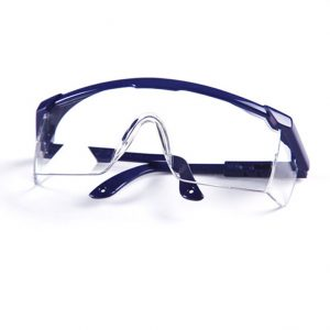 Safety glasses with frame
