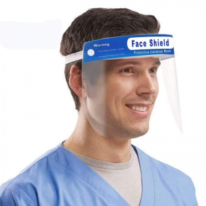 Man wearing face shield